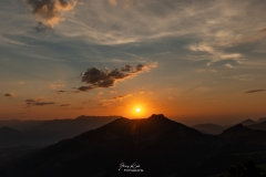 Sonnenuntergang-Osterhorngruppe-120821 Blick auf Schlenken und Schmittenstein
